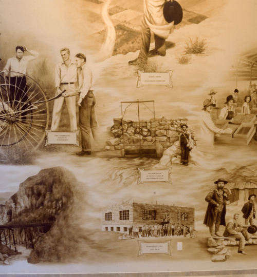 Detail of Lobby mural Hurricane Bank